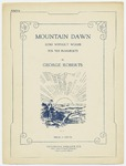 Mountain Dawn : Song Without Words