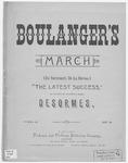 Gen'l Boulanger's March : En Revenant De La Revue
