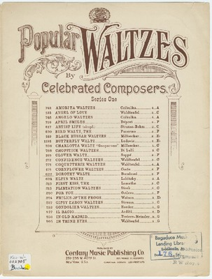 Parlor Salon Sheet Music Collection | Public domain (may be