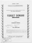 Forget Domani : Forget Tomorrow