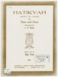 Hatikvah : Song of Hope