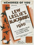Memories of you :   Lew Leslie's Blackbirds of 1930