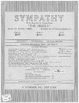 Sympathy :   waltz-song from the comedy-opera