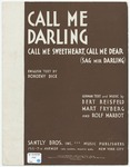 Call Me Darling : Call Me Sweetheart, Call Me Dear