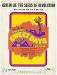 Herein Lie The Seeds Of Revolution: From the Musical Production The Last Sweet Days Of Isaac