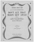 Don't Let That Moon Get Away : Diagrams for Guitar Acc.