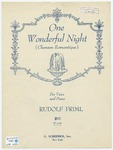 One Wonderful Night : Chanson Romantique