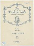 One Wonderful Night : Chanson Romantique