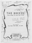 The Breeze : That's Bringin' My Honey Back to Me
