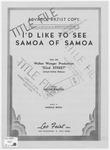 I'd Like To See Samoa Of Samoa
