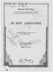 In Any Language