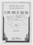A Love Song Of Long Ago