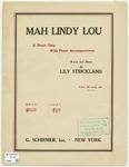 Mah Lindy Lou :   a banjo song with piano accompaniment
