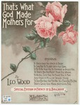 That's what God made mother for=   C'est pour ðca qu'Dieu fit les máeres