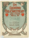 I'm Looking For A Sweetheart, And I Think You'll Do : Duet