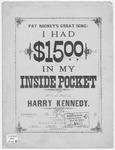 I had $15 in my inside Pocket