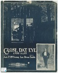 Close dat Eye : A Negro Lullaby