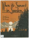 When It's Sunset in Sweden