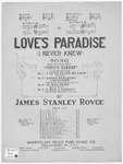 Love's Paradise : I Never Knew