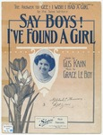 Say Boys! I've Found A Girl