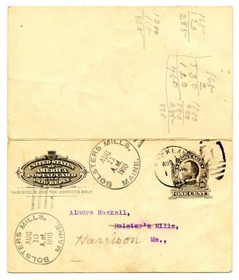 1910 First Maine Cavalry Reunion Post Card (front)