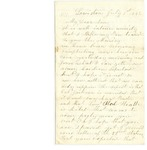Letter from Samuel R. Lemont to Frank L. Lemont, July 1, 1862