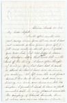 Letter from Harriet N. Merriam to Frank L. Lemont, March 8, 1863 by Harriet N. Merriam