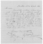 Letter from Wyatt Turner to Almore, September 10, 1863 by Wyatt Turner