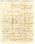 Letter from A.S. Daggett to Frank L. Lemont, July 28, 1862