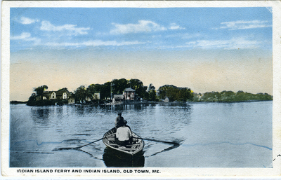 Indian Island Ferry and Indian Island, Old Town ME