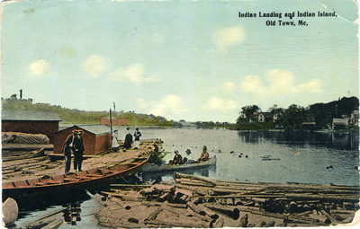 Indian Landing and Indian island  Old Town ME