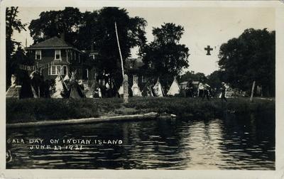Gala Day on Indian Island  June 17, 1921