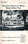 Extension Service in Maine Reports Busy Year: Annual Report for the Year Ending June 30, 1946