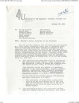 Letter from Ronald Banks, Assistant to President Libby, on Recommendations by the Civil Rights Committee, 1968