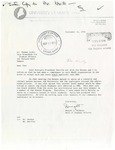Letter from Dwight Rideout to Thomas Aceto on Recruitment of Black Students at the University of Maine