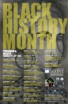 The University of Maine Office of Multicultural Student Life and the Black Student Union Flyer for Black History Month February 2018