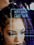 The University of Maine's Black Student Union Flyer for Hair Care Fair