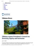 The University of Maine News article on
