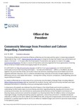 The University of Maine Office of the President article on the