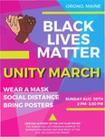 Black Lives Matter Unity March Poster by Unknown Author