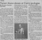 Maine Campus_Varner shares dream at Curry prologue