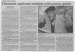 Maine Campus_Humanist captivates students with poetry, speech