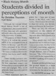 Maine Campus_Students divided in perceptions of month
