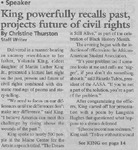 Maine Campus_King powerfully recalls past, projects future of civil rights