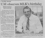 Maine Campus_ UM observes MLK's birthday