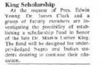 Maine Campus_ King Scholarship