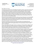 University of Maine Counseling Center Letter of Commitment to Racial and Social Justice
