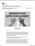 George Floyd AFUM Scholarship Announcement by Joan Ferrini-Mundy and Lisa K. Neuman