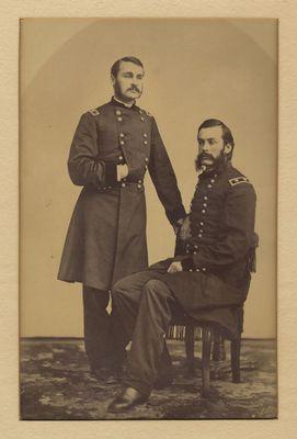 Charles and Cyrus Hamlin in military uniform