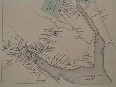 West Pembroke, Maine, Map